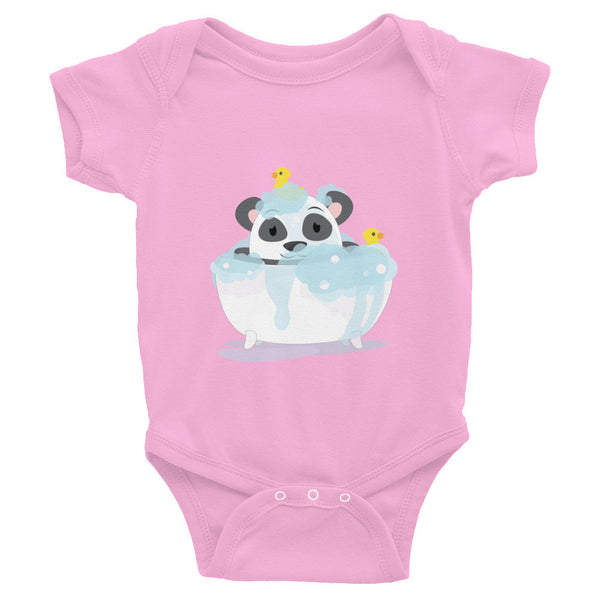 Bathtub Panda - Baby short sleeve one-piece