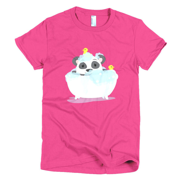Bathtub Panda - Short sleeve women's t-shirt