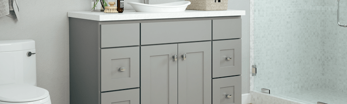 JSI Cabinetry Designer Series Vanities - Norwich Slab-Wholesale Cabinet Supply