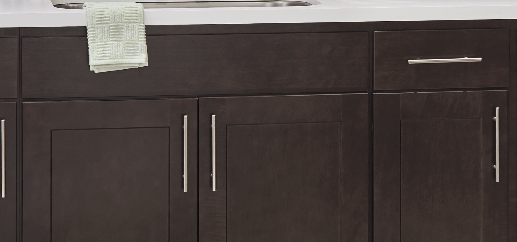 Wolf Classic Cabinetry Vanities - Dartmouth Dark Sable Universal Design Cabinets-Wholesale Cabinet Supply