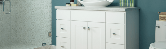 JSI Cabinetry Designer Series Vanities - Dover White-Wholesale Cabinet Supply