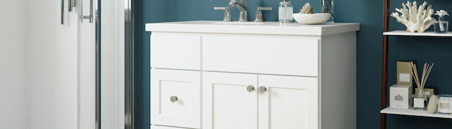 JSI Cabinetry Premier Series Vanities - Amesbury White-Wholesale Cabinet Supply