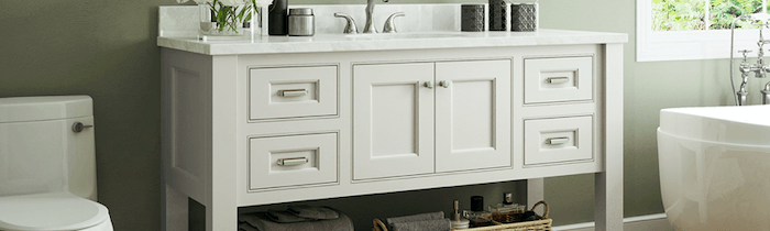 JSI Cabinetry Designer Series Vanities - Trenton Slab-Wholesale Cabinet Supply