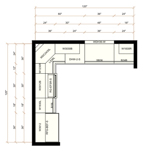 below is a layout view of a 10x10 kitchen what is a 10x10 kitchen   u2013 wholesale cabinet supply  rh   thewcsupply com