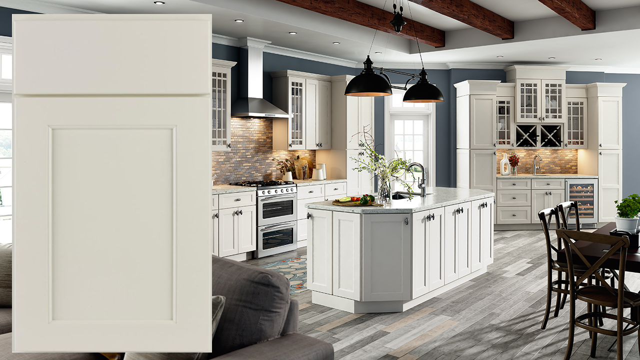 Jsi Designer Series Trenton Slab Assembled Kitchen Cabinets