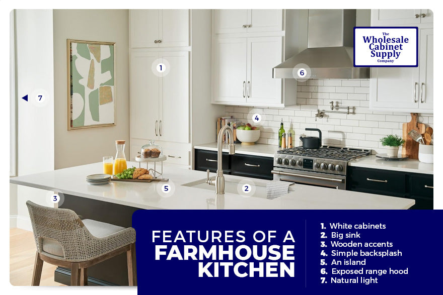 features of a farmhouse kitchen