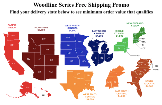 Woodline Series - Free Shipping Promo Map