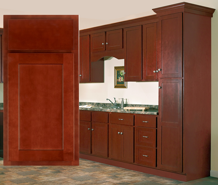 Craftsman Series Salem Cherry Shaker Style Kitchen Cabinets