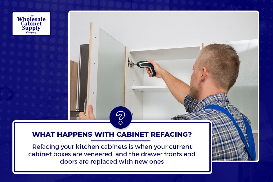 What happens with cabinet refacing