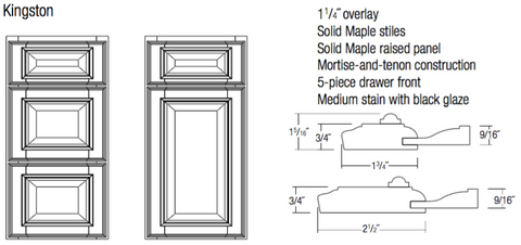 jsi designer kingston door and drawer specifications and profile