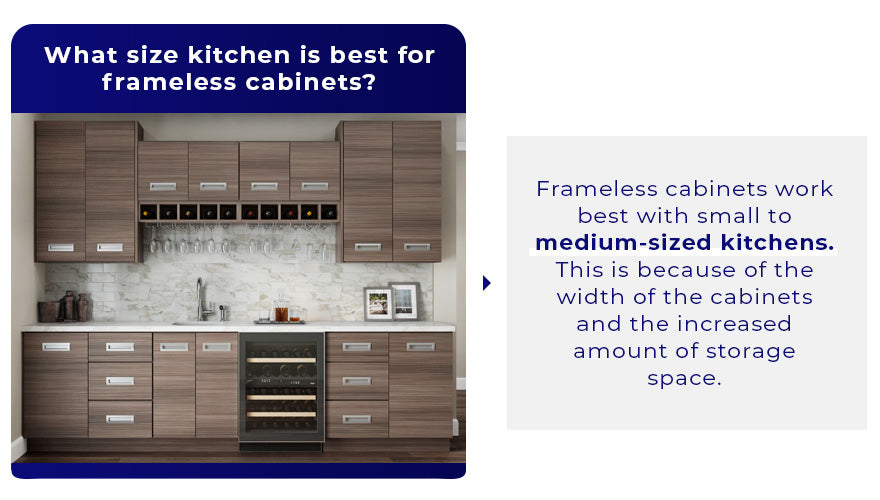 What size kitchen is best for frameless cabinets
