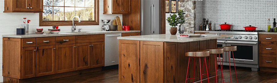 rustic wooden kitchen cabinets