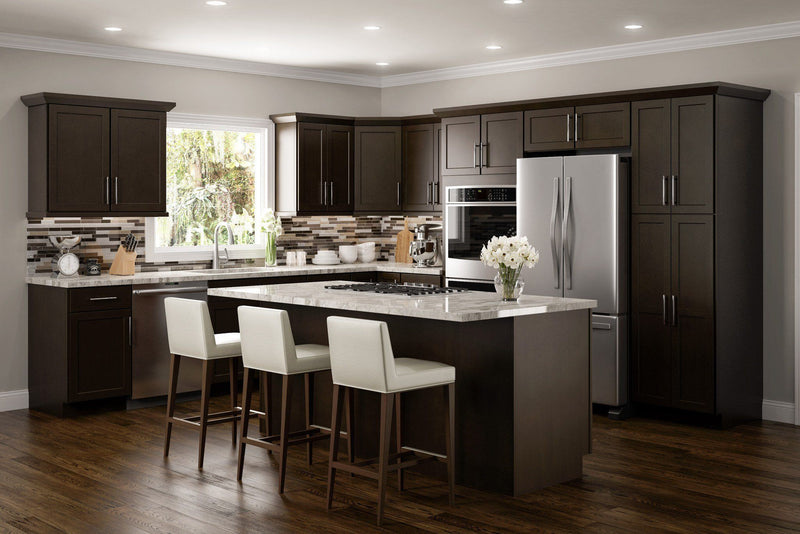 SD - Amesbury Espresso - Sample Door - Wholesale Cabinet Supply Kitchen and Bath Cabinetry from JSI Cabinetry Premier Series
