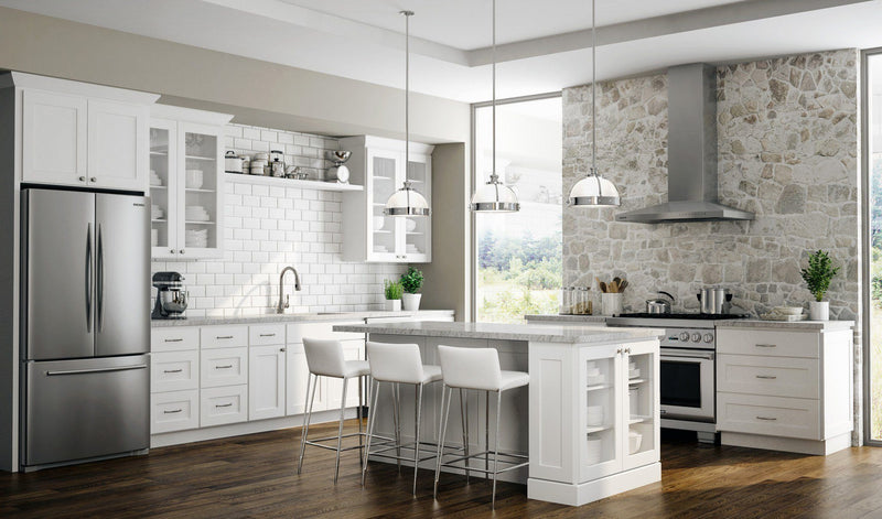 SD - Dover White/Essex White - Sample Door - Wholesale Cabinet Supply Kitchen and Bath Cabinetry from JSI Cabinetry Designer Series