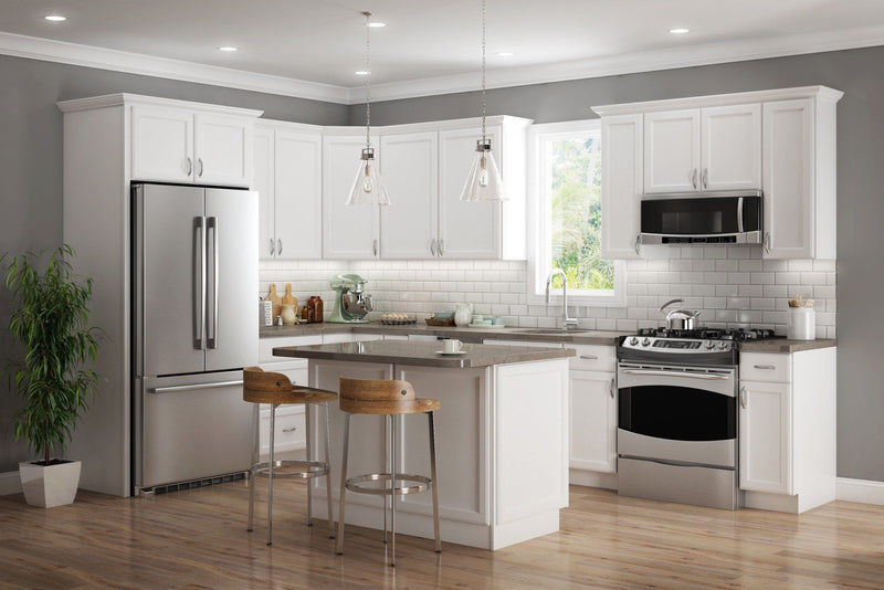 SD - Plymouth White - Sample Door - Wholesale Cabinet Supply Kitchen and Bath Cabinetry from JSI Cabinetry Premier Series