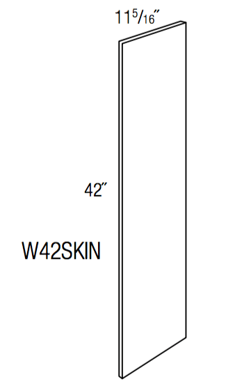 W42SKIN - Dover White - Wall Skin-Wall Cabinet-JSI Cabinetry Designer Series-Wholesale Cabinet Supply - thewcsupply.com