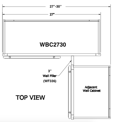 "WBC2730 - Amesbury Espresso - 30"" High Wall Blind Corner Cabinet-Wall Cabinet-JSI Cabinetry Premier Series-Wholesale Cabinet Supply - thewcsupply.com"