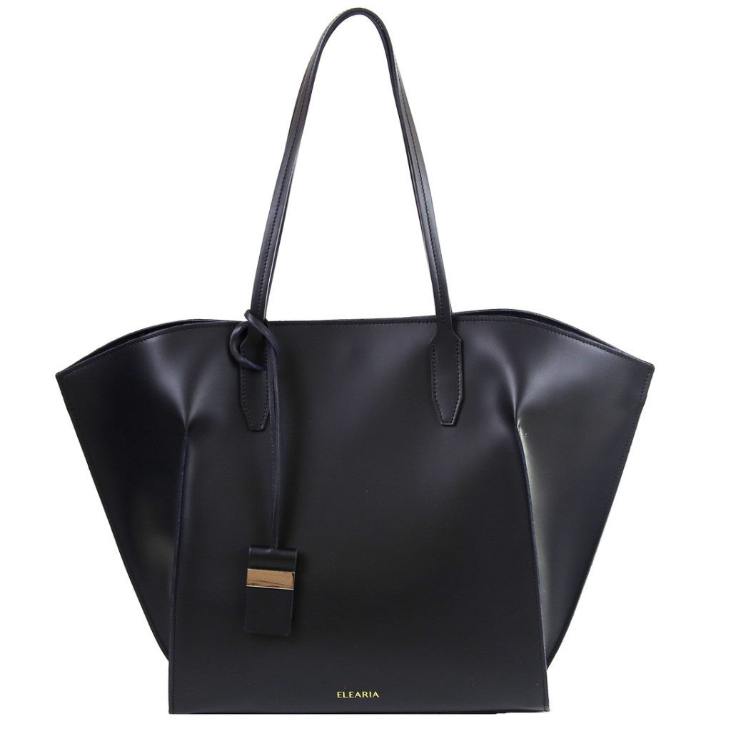 Serafina black wing leather shopper bag - ELEARIA