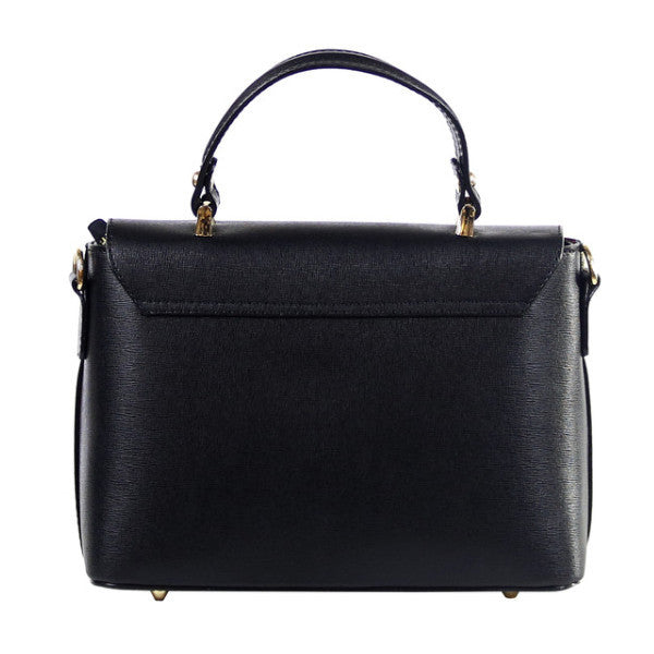 Allegra black saffiano leather cross body bag - ELEARIA