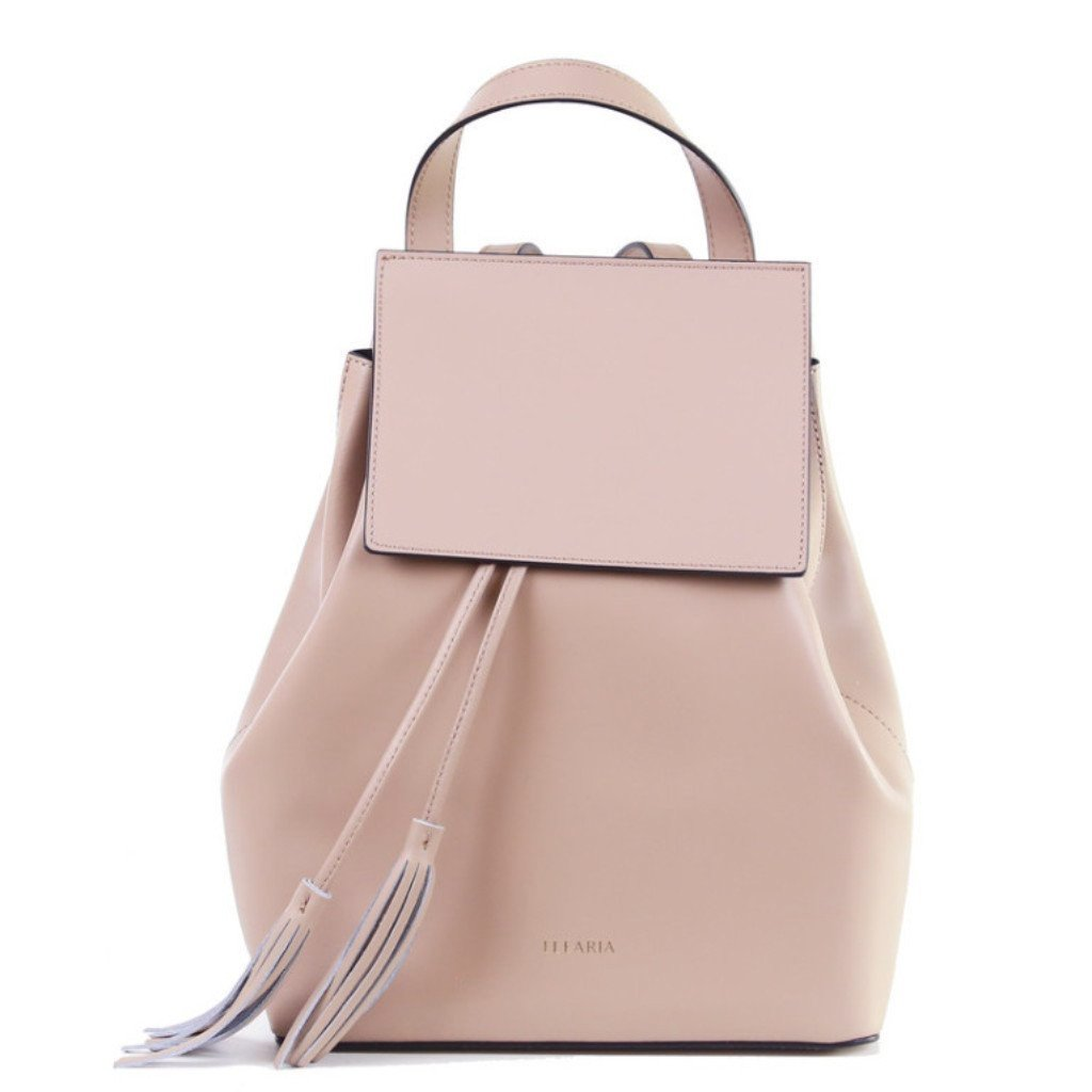 Gia nude leather backpack - ELEARIA
