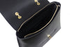 Kamelia black leather tote bag - ELEARIA