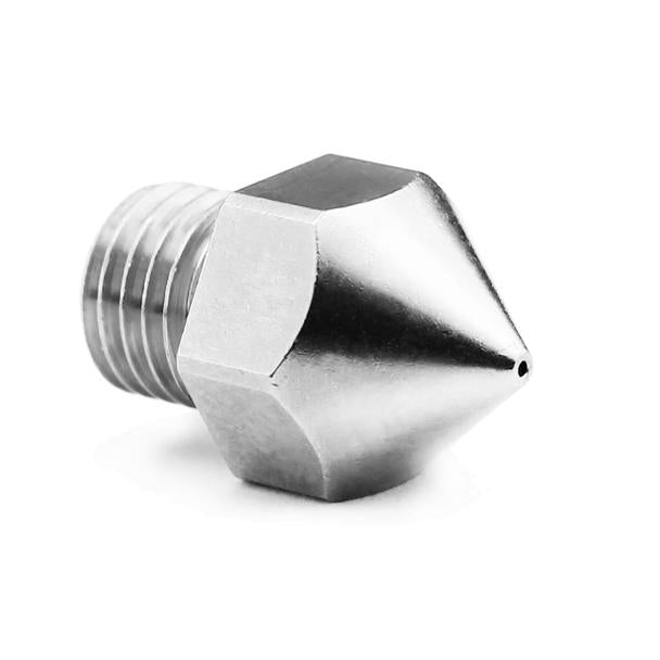 Micro Swiss Plated Wear Resistant Nozzle for Creality CR-10 PRO Original hotend ONLY (M6x.75mm Threads)