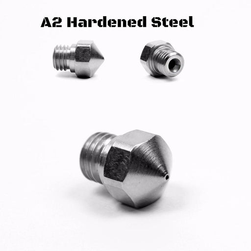 Micro Swiss A2 Hardened Steel Nozzle for MK10 All Metal Hotend Kit