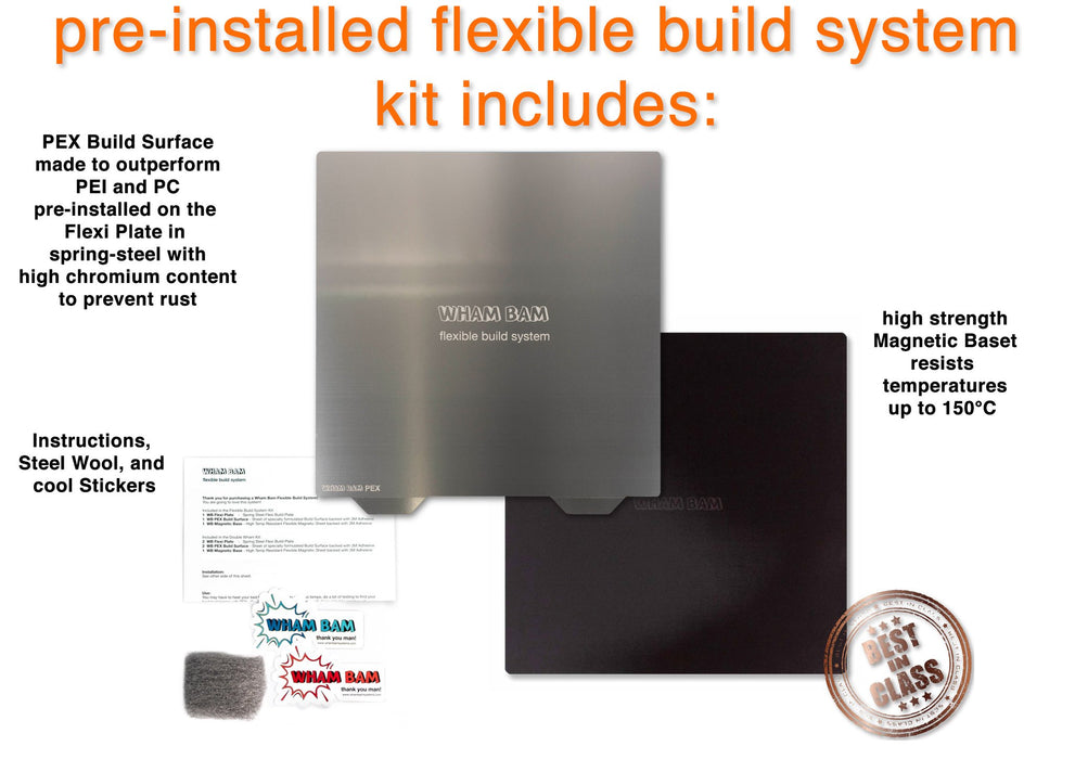 255 x 245 - Flexible Build System with Pre-Installed PEX Build Surface