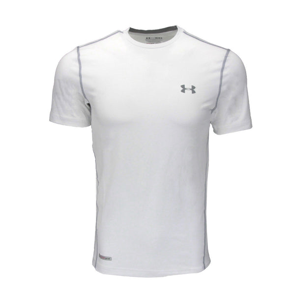White/Steel Under Armour Men's T-Shirt