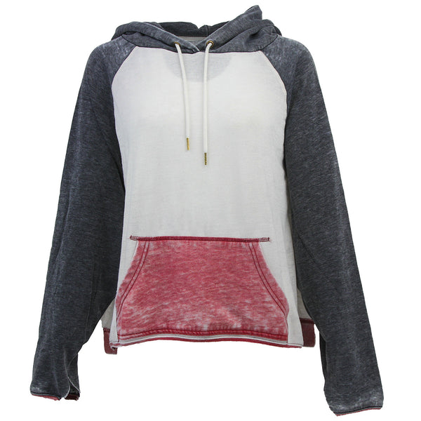 White/Graphite/Light Red Free People Women's Sweatshirt