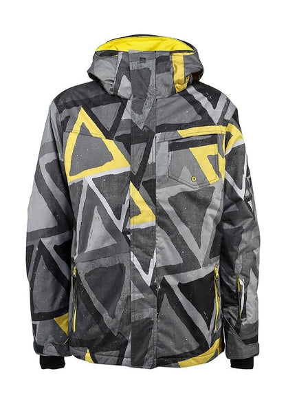 Grey/Yellow Quiksilver Boy's Jacket