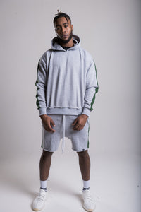 Raw Edge Shorts - Boston Grey