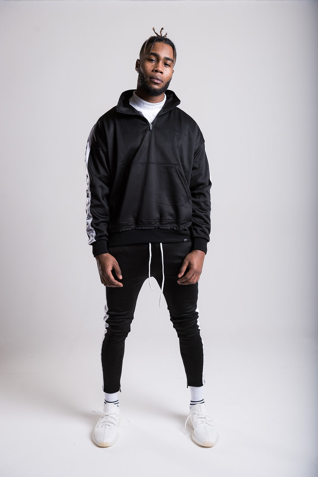 Tape Track Pants - Black