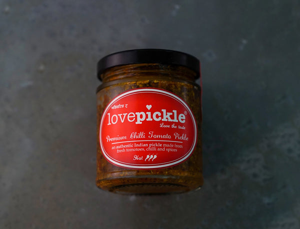 180g Lovepickle Hot Chilli Tomato Pickle for sale - Parsons Nose