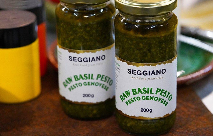 200g Seggiano Basil Green Pesto for sale - Parsons Nose