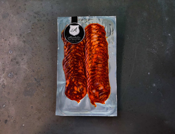 Alcubilla Sliced Iberian Bellota Chorizo for sale - Parsons Nose