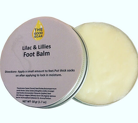 Lilac and Lillies Foot Balm - The Good Soak