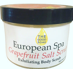 European Spa Grapefruit Salt Scrub - The Good Soak