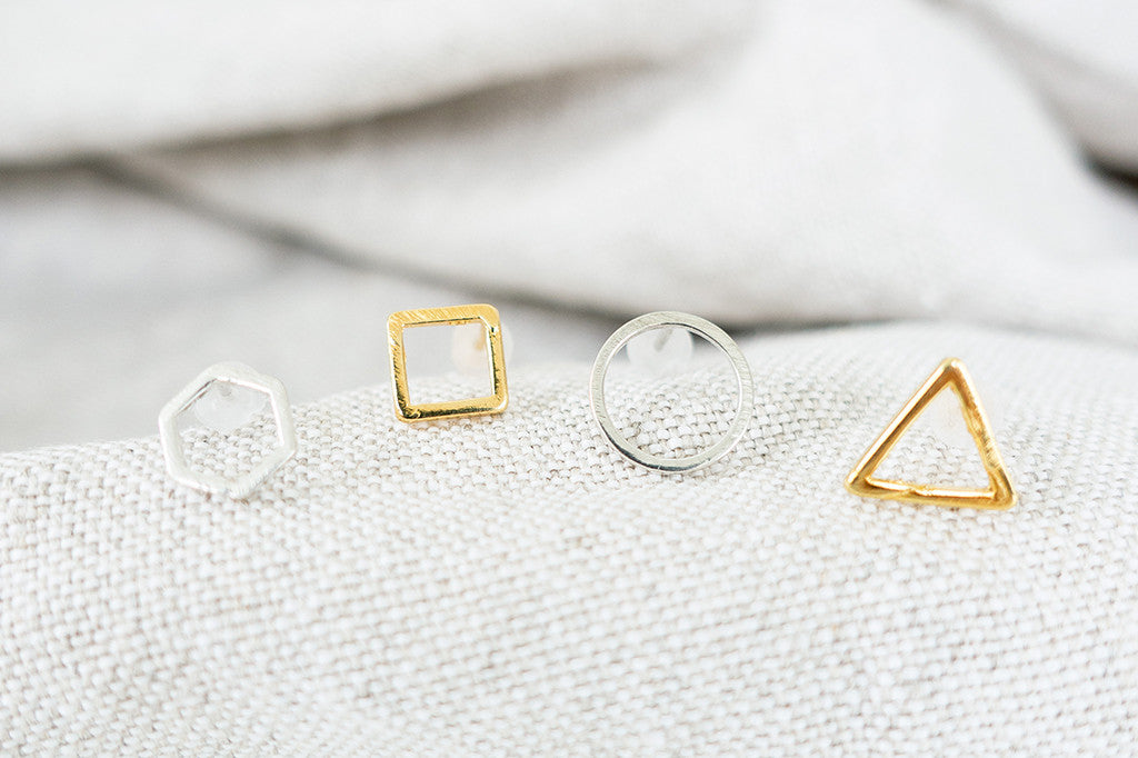 Introducing: Geometric Stud Earrings