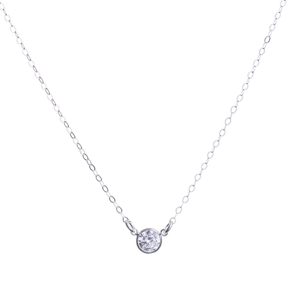 Sterling Silver CZ Diamond Necklace