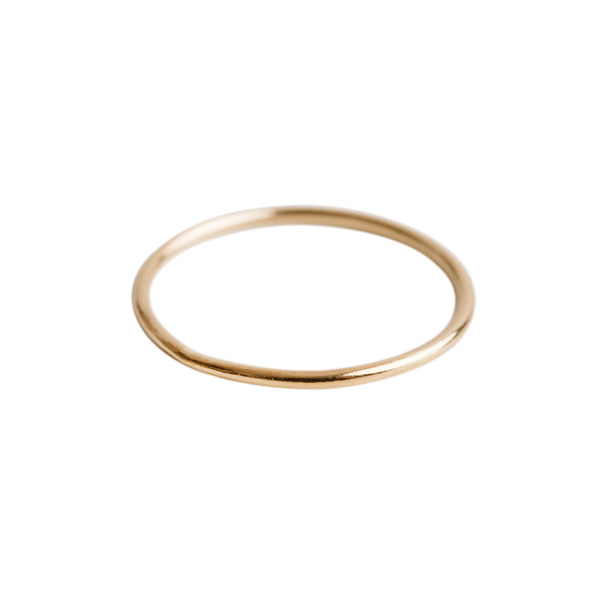 Thin Stacking Ring Gold