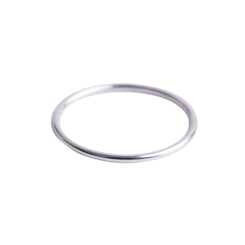 Minimal Silver Stacking Ring