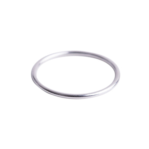 Thin Stacking Ring Silver