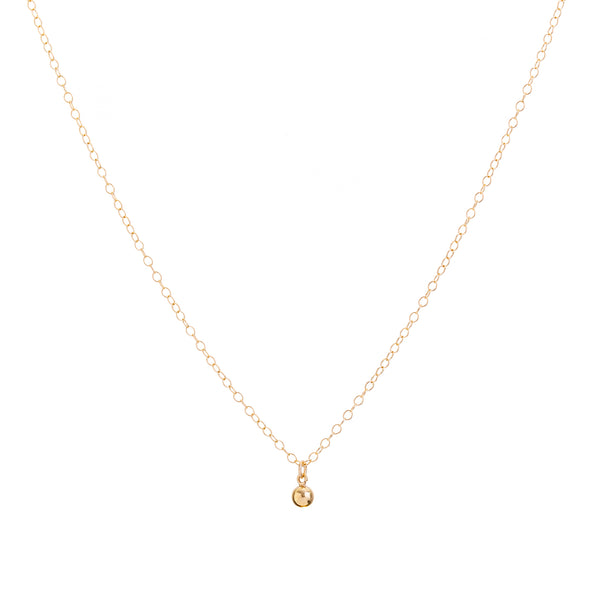 Minimal Ball Necklace Handmade UK Gold