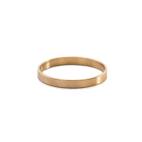 Minimal Simple Unisex Band Ring Gold