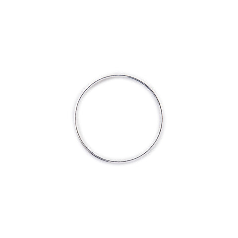 Minimal Simple Unisex Band Ring Silver