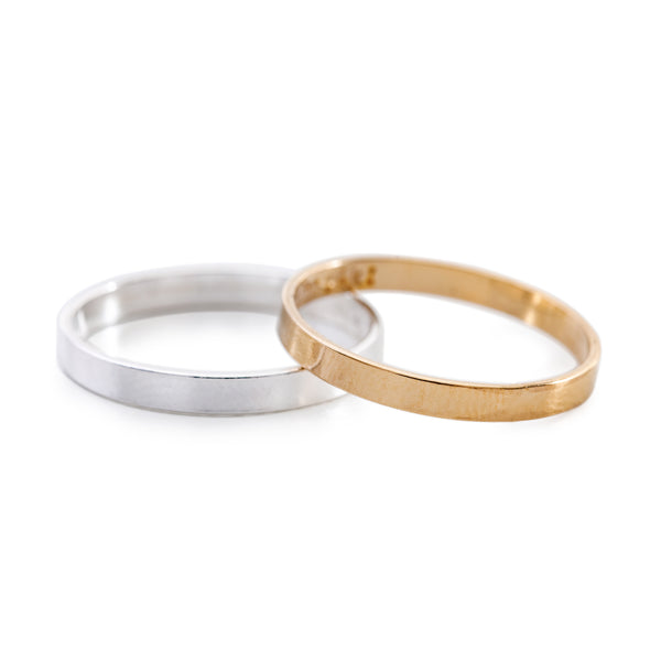 Minimal Simple Unisex Band Rings