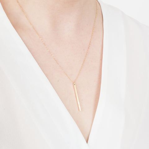 Bar Necklace Minimal Handmade Jewellery