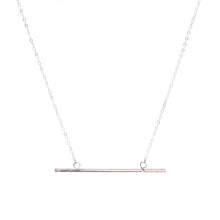 Load image into Gallery viewer, Minimal Silver Horizontal Bar Necklace
