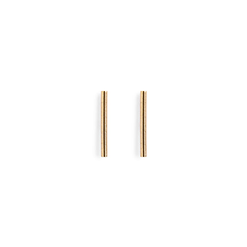 Minimal Gold Bar Stud Earrings